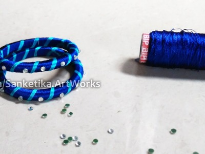 Silk Thread Bangles Making Tutorial For Beginners - DIY Fancy Bangles