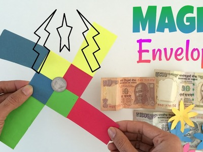 "Tutorial to make ""Colourful Magic Envelope"" - Anyone can do this trick - DIY"