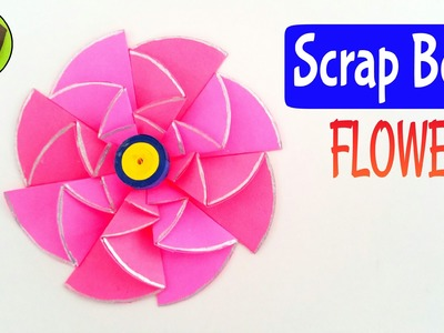 "Tutorial to make ""Scrap Book Flower"" - Diwali and Christmas decorations."