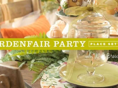 DIY fairy garden table settings for a Fairy Garden party