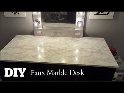 DIY Faux Marble Vanity & Computer Desk Tops (Talk Through)