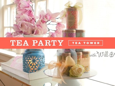 DIY tea canister tower for a Tea Party