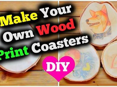 DIY Wood Print Coasters