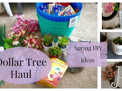 Dollar Tree Haul + Spring DIY Ideas | 2016