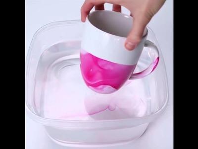 Easy DIY Marbled Mugs