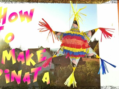 Kako napraviti pinjatu. Como hacer piñata. DIY. How to make a pinata