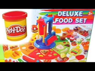PLAY-DOH Deluxe Food Set Toy Food DIY Make Ice Cream Pizza Desserts Donuts