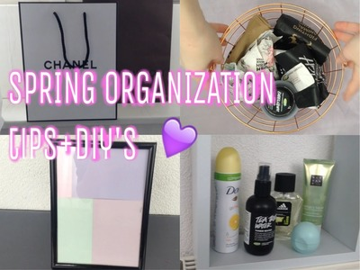 SPRING ORGANIZATION TIPS+DIY'S |Jasper