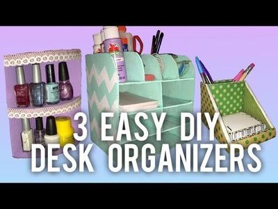 3 EASY DIY Desk Organizer Ideas