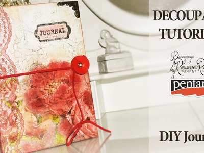 Back to school DIY notebooks youtube girls romania - decoupage tutorial