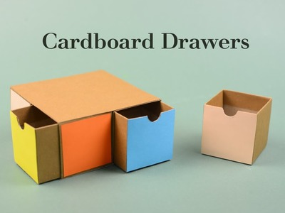 Cardboard Drawers 2 Tutorial | Creative DIY