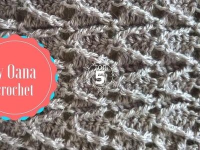 Crochet arrow stitch- by Oana