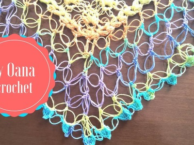 Crochet border with Solomon knot
