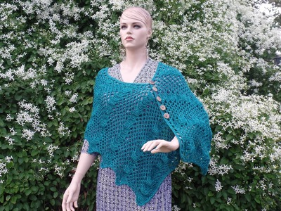 CROCHET How To #Crochet Ladies Lacy Shells Shawl Wrap  #TUTORIAL #332