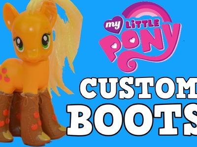 Custom Applejack My Little Pony MLP Equestria Girls Boots DIY Tutorial