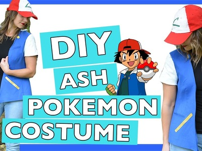 DIY Ash Pokemon Halloween Costume | Quick and Easy Tutorial