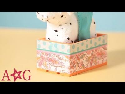 DIY Dog & Cat Pet Carrier Doll Craft   American Girl
