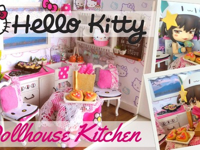 DIY Dollhouse Kitchen Kit Hello Kitty inspired-Miniature Kitchen