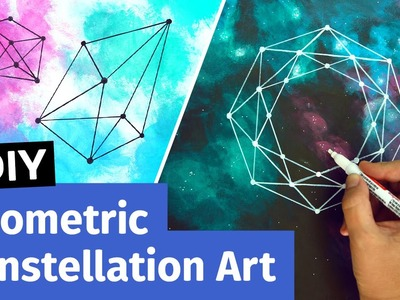 DIY Geometric Constellation Art | Easy Room Decor Ideas | Sea Lemon