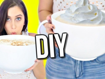 DIY GIANT PUMPKIN SPICE LATTE! WORLD'S BIGGEST COFFEE CUP! | Courtney Lundquist