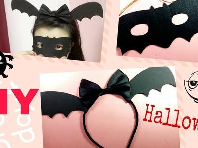 DIY Halloween Costumes! handmade làm cài tóc và mặt nạ dơi hóa trang Halloween 2016| Ami DIY