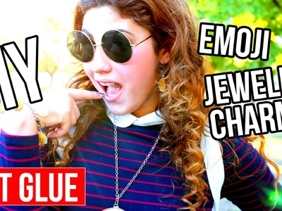 DIY HOT GLUE EMOJI Jewelry Charms | Pendant | Neckless | Bracelet | choker | fun and super easy