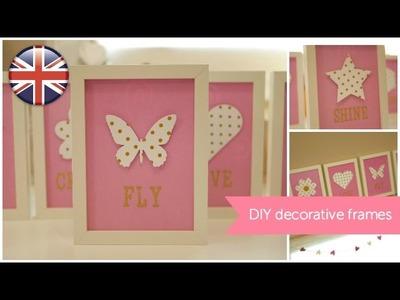 DIY Inspirational frames. Home Decor tutorial