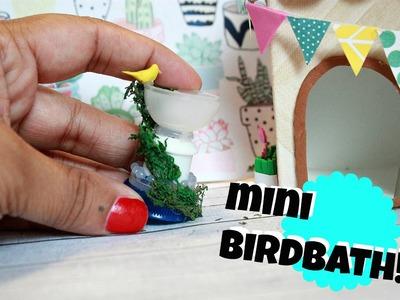 DIY MINIATURE BIRDBATH