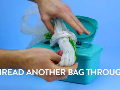 DIY Projects - super easy DIY Plastic Bag Dispenser | Diply | Crafty