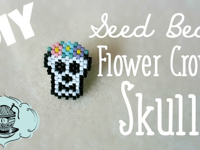 DIY Seed Bead Flower Crown Skull Charm Brick Stitch. Bead Weaving. ¦ The Corner of Craft