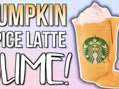 DIY SLIME! Starbucks Pumpkin Spice Latte