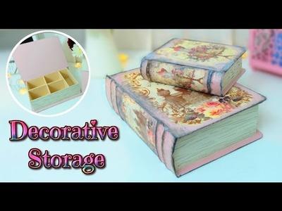 DIY - Vintage Book Storage Box TUTORIAL - room decor ideas - Isa ❤️