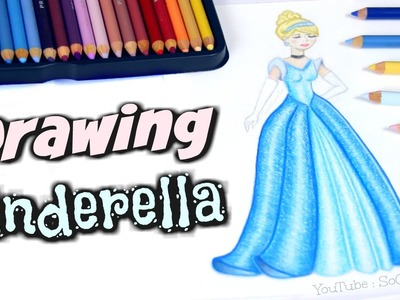 Drawing Cinderella. How To Draw a Disney Princess with colored pencil DIY
