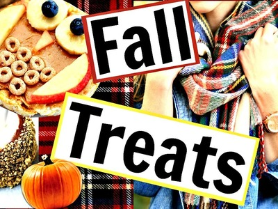 EASY & FUN DIY FALL TREATS! || FALL SNACKS 2016