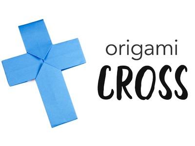 Easy Origami Cross. Crucifix Tutorial ✟ Halloween DIY ✟ Paper Kawaii