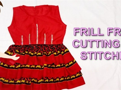 Frill Frock Cutting And Stitching | DIY - Tailoring With Usha
