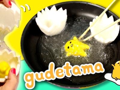 Gudetama SLIME egg * DIY Clear Slime Gudetama crafts