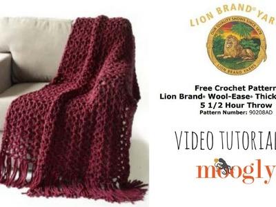 How to Crochet: Lion Brand Yarn's 5 1.2 Hour Throw
