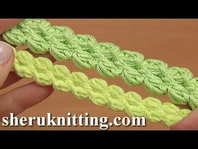 How To Crochet Puff Stitch Cord Tutorial 103