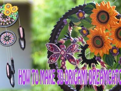 How To Make 3D Origami Dreamcatcher| DIY Dreamcatcher Tutorials | Tran Nga Handmade