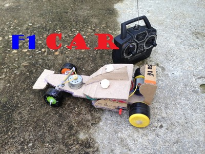 How to make a Battery Operated F1 Car with Remote Control - DIY F1 Racing