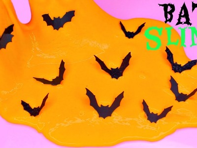 How to Make Halloween Bat Slime! Make EASY Slime! DIY Bat SLIME!