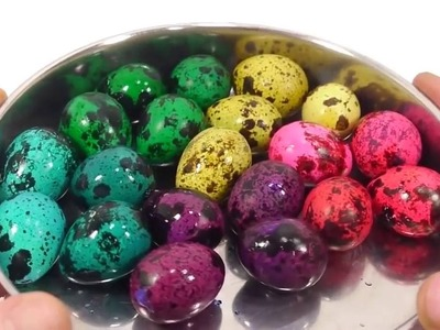 How To Make 'Real Birds Egg Colors Ball' Dyeing Colors DIY Video