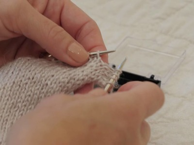 Knitting With Beads (Crochet Hook Method)