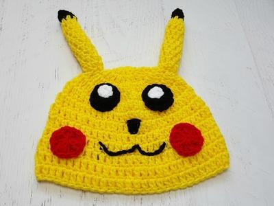 Little Yellow Monster (pikachu inspired crochet hat)