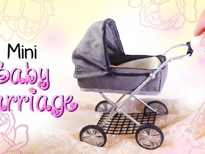 Miniature Baby Carriage Tutorial. DIY Dolls.Dollhouse