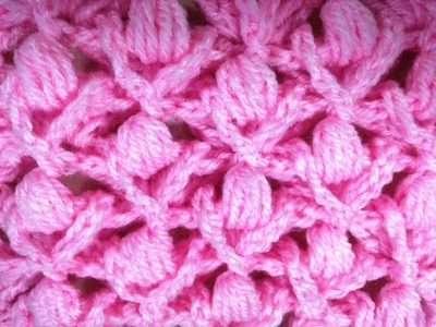 Punto fantasia bello tejido a crochet relieve. Point fantaisie relief crochet