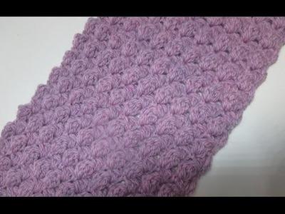 Uncinetto crochet schema sciarpa tutorial