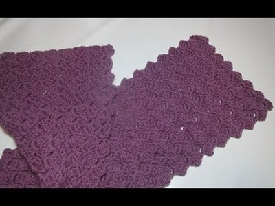 Uncinetto crochet sciarpa tutorial passo a passo schema