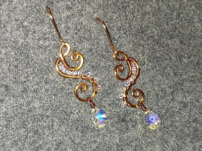 Wire Jewelry Lessons - DIY - handmade jewelry tutorials - How to make earing